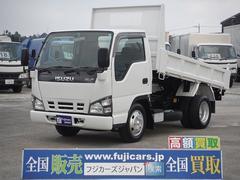 エルフトラック4.8D積載3t全低床強化ダンプ 新明和