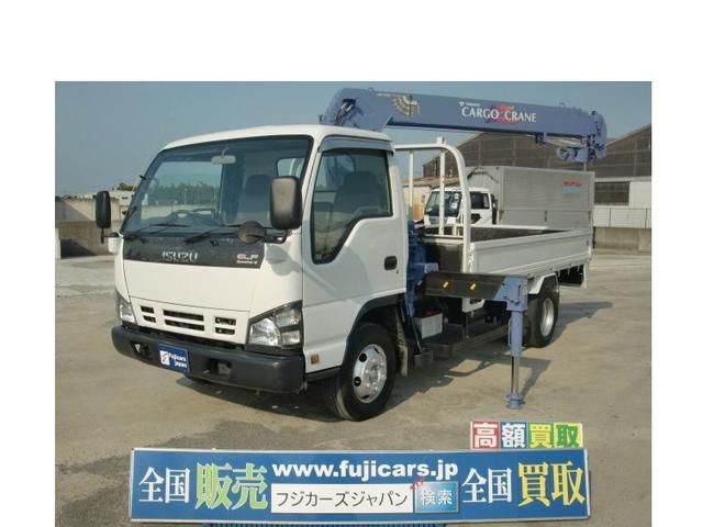 いすゞ エルフトラック 4段クレーン 4.8D 6MT タダノ 積...