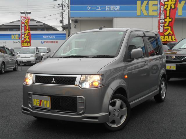 三菱 eKスポーツ R ターボ 1オーナー CD キーレス HID...