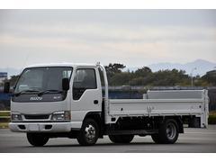 エルフトラック2t ワイド ロング 平ボディー 垂直パワーゲート600kg