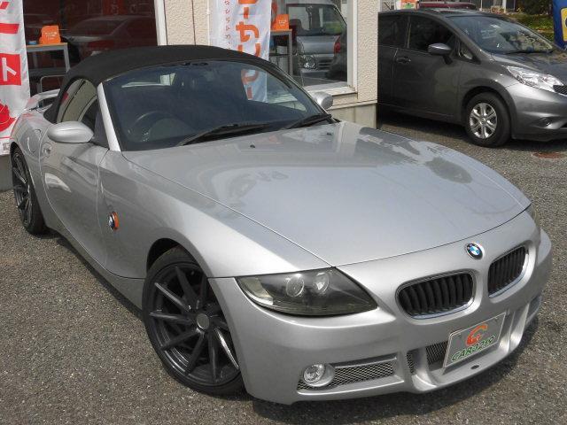 BMW Z4 2.2iフロントエアロ  黒革シート HDDナビ 1...