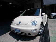 VW ニュービートルカブリオレベースグレード キーレス 革シートヒーター ETC CD