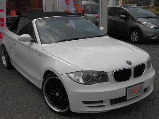 BMW 1シリーズ 120i カブリオレ 電動OP 黒革 HDDナ...