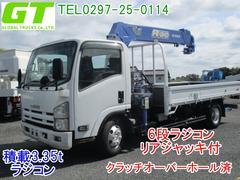 エルフトラックタダノ製ZR296 6段クレーン 積載3.35t