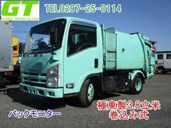 エルフトラックパッカー車 極東製3.8立米 巻込み式