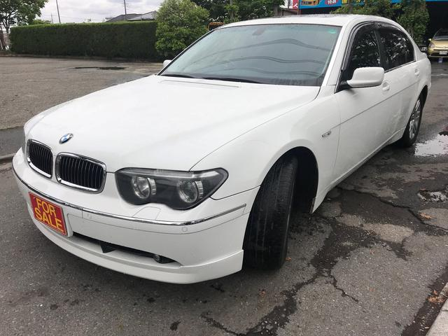 Bmw 7 Series 745li 2003 White 91800 Km Details Japanese