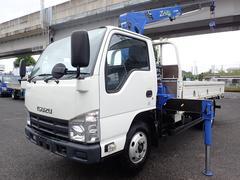 エルフトラック2.6t吊3段クレーン 高床ロング 積載2t