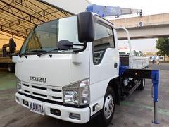 エルフトラック2.6t吊4段クレーン 高床ロング 積載2t
