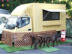 キャンター 移動販売車キッチンカー大型調理器設置元おにぎりイベ車上りMT(三菱ふそう)