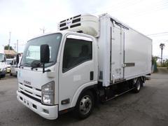 エルフトラックワイドロング冷蔵冷凍車パワーゲート付