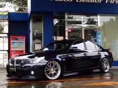 BMW525iMスポーツ 純正ナビ 黒革 車高調 20AW エアロ