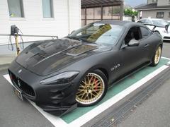 マセラティ グラントゥーリズモカーボンボンネット マットブラックラッピング 車高調