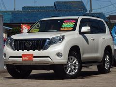 ランドクルーザープラドTZ−G 4WD メーカーナビ ベージュ本革 ワンオーナー