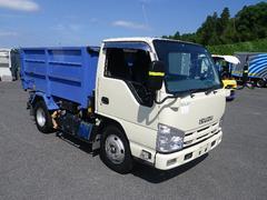 エルフトラックモリタ製 天蓋扉清掃ダンプ 積載2トン 土砂禁 水密式