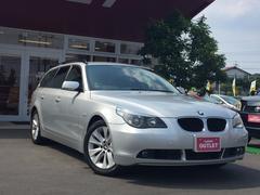 BMW525iツーリング 黒革パワーS純ナビETCクルコンHID