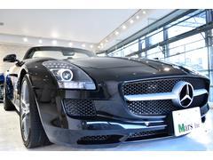 M・ベンツ SLS AMGロードスター 黒白フルレザー バング・オルフセンオーディオ