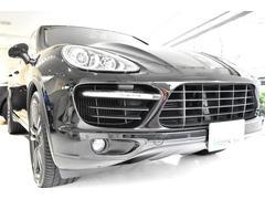 ポルシェ カイエンターボ正規モデル 黒革左ハンドル カーボンインテリア