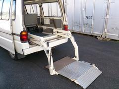 バネットバンDX 車いす移動車2台積み 集中ドアロック