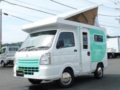 キャリイトラック軽キャンピングカーリゾートデュオ ポップアップルーフ4名乗車