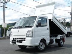 キャリイトラック新明和製強化ダンプ 電動油圧式 4WD MT キーレス PW