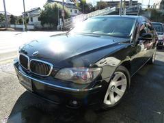 BMW740i HDDナビ サンルーフ 黒皮シート 左ハンドル