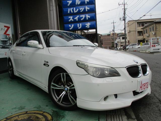BMW 5シリーズ 545i サンルーフ 黒革シート フルエアロ ...