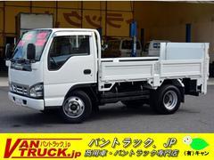 エルフトラックセミロング 平ボディー 新明和垂直リフト 積載3t 5方開