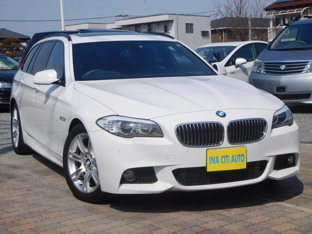 BMW 528iTRG Mスポーツ PSR 1オナ 黒革S ナビ地D