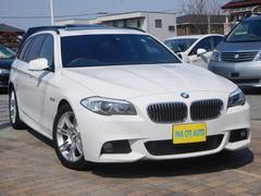 BMW528iTRG Mスポーツ PSR 1オナ 黒革S ナビ地D