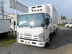 エルフトラックワイドロング中温冷凍車2.85t 床下収納型パワーゲート