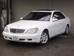 M・ベンツS500L黒革シート サンルーフ ナビ CD ETC HID