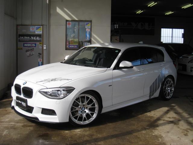 BMW 1シリーズ 116iMス 純HDD地D 外エアロ CS7鍛...