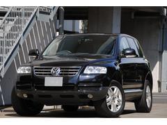 VW トゥアレグV6 黒革 社外ナビTV  Bluetooth