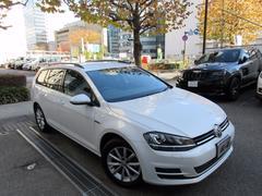 VW ゴルフヴァリアントラウンジ ディーラー下取車 1オーナー 禁煙車 新車保証継承