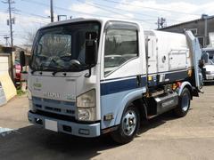エルフトラック2t積 モリタ製巻込みパッカー車4.3立米 4.6CNG