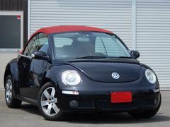VW ニュービートルカブリオレヴィンテージ 赤革シートフロントヒーター付 社外HDDナビ