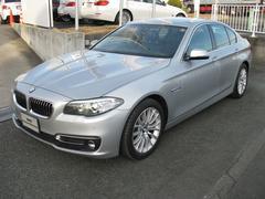 BMW523iラグジュアリー 純正電動黒レザーシート 禁煙車PDC