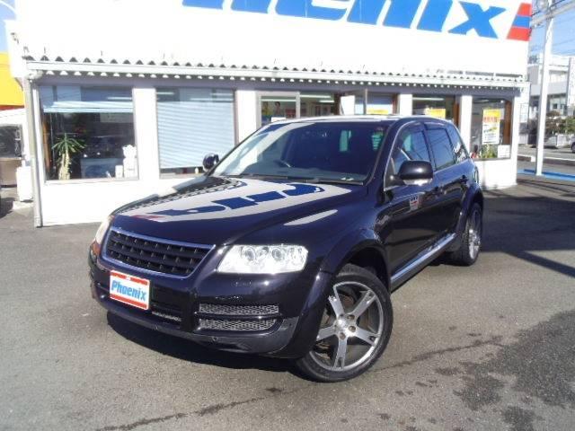 フォルクスワーゲン トゥアレグ V6エアサス 4WD黒革フルセグH...