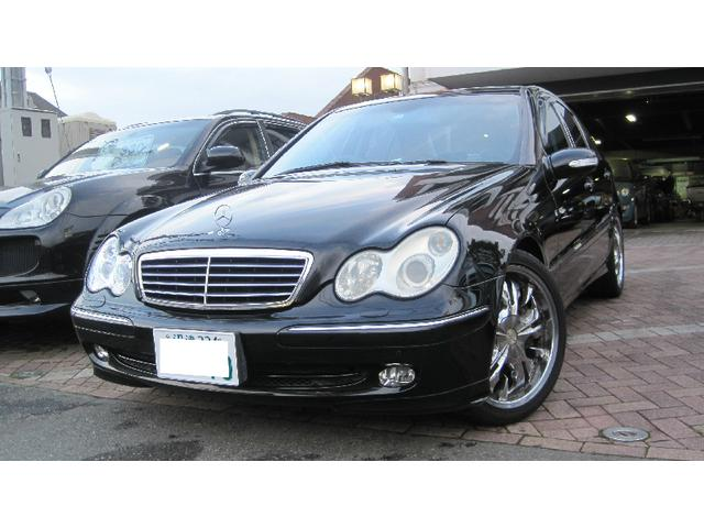 mercedes benz c class c200 kompressor 2003 black 102 000 km details japanese used cars. Black Bedroom Furniture Sets. Home Design Ideas