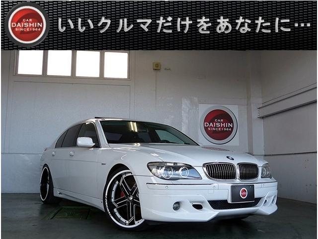 BMW 7シリーズ 740i ACシュニッツァー左H車 黒革SRナ...