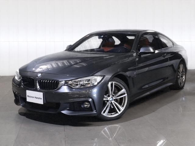 BMW 4シリーズ 435iクーペMスポーツ左HLEDライト赤レザ...