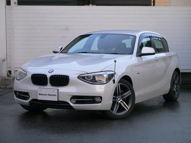 BMW 1シリーズ 120iスポーツ純正HDDナビ黒レザーオプショ...