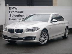 BMW528iラグジュアリーコンフォートPKGLED黒革ワンオナ−
