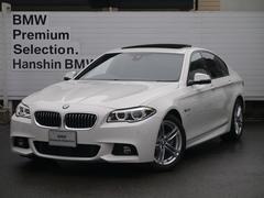 BMW523iMスポーツSRワンオーナ黒革LED純正HDD地デジ