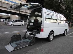 キャラバンバス福祉車両チェアキャブMタイプ車イス2台固定10人 サンルーフ
