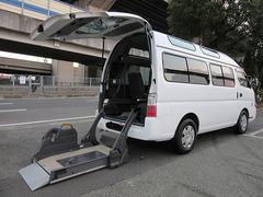 キャラバンバス福祉車両チェアキャブMタイプ車イス2台 ストレッチャー固定付