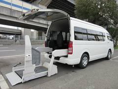 ハイエースコミューター後期型ワイド福祉車両ウェルキャブDタイプ車イス4台 事業用可