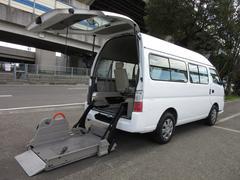 キャラバンバス福祉車両チェアキャブMタイプ 車イス2台固定 電動Sステップ