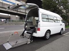 キャラバンバス福祉車両チェアキャブMタイプ 車イス2台 ストレッチャー固定