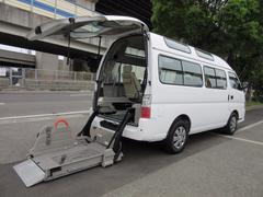 キャラバンバス福祉車両チェアキャブMタイプ車イス2台10人 電動Sステップ